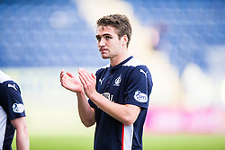 Falkirk's Luke Leahy at the end of the game.<br /> Falkirk 2 v 1 Alloa Athletic, Scottish Championship game played 4/10/2014 at The Falkirk Stadium.
