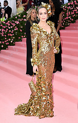 """Emily Blunt at the 2019 Costume Institute Benefit Gala celebrating the opening of """"Camp: Notes on Fashion"""".<br />(The Metropolitan Museum of Art, NYC)"""