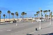 Empty Parking Lot with the HB Pier in the Background