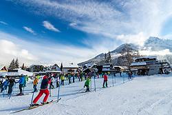 Skiers at late opening of ski lifts due to Covid-19 lockdown and fresh snow in turist city of Kranjska Gora, on December 12, 2020 in Kranjska Gora, Slovenia. Photo by Matic Klansek Velej / Sportida