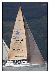 The final days racing at the Bell Lawrie Yachting Series in Tarbert Loch Fyne ..The overall winners were decided in most classes on the last days racing...Shirley Robertson, Alex Thompson and the Youth team on the Volvo RYA Keelboat programme Farr 45 John Merricks.( GBR 5955T ).