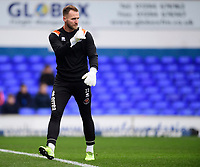 Blackpool's Jak Alnwick during the pre-match warm-up<br /> <br /> Photographer Chris Vaughan/CameraSport<br /> <br /> The EFL Sky Bet League One - Ipswich Town v Blackpool - Saturday 23rd November 2019 - Portman Road - Ipswich<br /> <br /> World Copyright © 2019 CameraSport. All rights reserved. 43 Linden Ave. Countesthorpe. Leicester. England. LE8 5PG - Tel: +44 (0) 116 277 4147 - admin@camerasport.com - www.camerasport.com