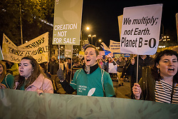6 December 2019, Madrid, Spain: Faith-based participants from the Lutheran World Federation, the World Council of Churches and the ACT Alliance join in as thousands upon thousands of people march through the streets of central Madrid as part of a public contribution to the United Nations climate meeting COP25, urging decision-makers to take action for climate justice. Here, Lutheran World Federation delegate Erik Bohm from Church of Sweden.