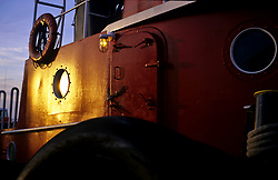 Stock photo of two windows and a door on an oil tanker