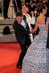 """Antonio Banderas seen leaving screening of """"Pain And Glory"""" during the 72nd annual Cannes Film Festival on May 17, 2019 in Cannes, France. Photo by Ammar Abd Rabbo/ABACAPRESS.COM"""