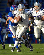 Kansas State quarterback Josh Freeman at Memorial Stadium in Lawrence, Kansas, November 18, 2006.  Kansas beat K-State 39-20.<br />