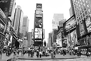 Black and White Times Square in NYC