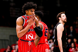 Justin Gray of Bristol Flyers cuts a dejected figure - Photo mandatory by-line: Robbie Stephenson/JMP - 11/01/2019 - BASKETBALL - Leicester Sports Arena - Leicester, England - Leicester Riders v Bristol Flyers - British Basketball League Championship