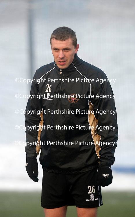 St Johnstone Training...Unknown Serbian trialist<br /> see story by Gordon Bannerman Tel: 07729 865788<br /> Picture by Graeme Hart.<br /> Copyright Perthshire Picture Agency<br /> Tel: 01738 623350  Mobile: 07990 594431