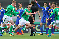 Troy Parrot of Republic of Ireland (10) celebrates his goal during the UEFA European Under 17 Championship 2018 match between Bosnia and Republic of Ireland at Stadion Bilino Polje, Zenica, Bosnia and Herzegovina on 11 May 2018. Picture by Mick Haynes.