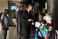 KELOWNA, BC - SEPTEMBER 29:  Alexander Edler #23 of the Vancouver Canucks signs autographs for minor hockey players upon arrival at Prospera Place for the final pre-season game against the Arizona Coyotes on September 29, 2018 in Kelowna, Canada. (Photo by Marissa Baecker/NHLI via Getty Images)  *** Local Caption *** Alexander Edler