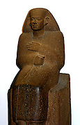 Egyptian statue of Ankhrekhu, Twelfth Dynasty (approx. 1850 BC). Made from Quartzite, showing the subject in a long cloak.