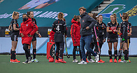 AMSTELVEEN - Coach Robert Tigges (Adam) na de halve finale wedstrijd dames EURO HOCKEY LEAGUE (EHL),  Amsterdam-HC Den Bosch. (1-1) Den Bosch wint shoot outs en plaats zich voor de finale.  COPYRIGHT  KOEN SUYK