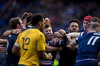 Rugby Union - 2017 Autumn Internationals - Scotland vs. Australia<br /> <br /> Ali Price try at Murrayfield.<br /> <br /> COLORSPORT