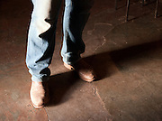 Ranchers dusty boots, Flinders Ranges, South Australia, Australia