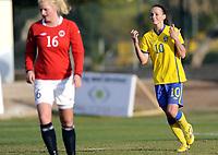 Fotball<br /> La Manga 201<br /> 28.02.2012<br /> Landskamp U23<br /> Norge v Sverige / Norway v Sweden 0:3<br /> Foto: Morten Olsen, Digitalsport<br /> <br /> Kosovare Asllani - Sverige