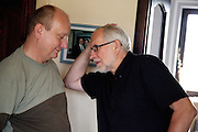 Polish men having a one-on-one conversation age 58 and 65. Zawady Central Poland