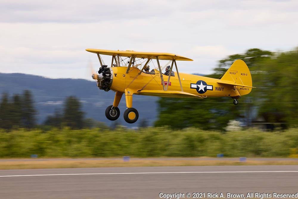 Stearman N2S-3 landing.