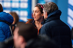 Suzanne Schulting (NED)  and Coach Jeroen Otter after the 1500 meter semifinals during ISU European Short Track Speed Skating Championships 2020 on January 25, 2020 in Fonix Hall, Debrecen, Hungary