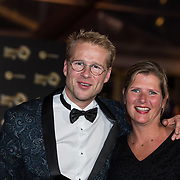 NLD/Amsterdam/20171012 - Televizier-Ring Gala 2017, Leo Alkemade en partner Margriet Baalman