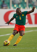 Photo: Steve Bond/Richard Lane Photography.<br />Egypt v Cameroun. Africa Cup of Nations. 22/01/2008. Njitap Geremi of cameroon & Newcastle crosses the ball