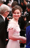 Actress Aisling Franciosi at Jimmy's Hall gala screening red carpet at the 67th Cannes Film Festival France. Thursday 22nd May 2014 in Cannes Film Festival, France.