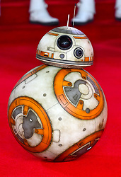BB-8 attending the european premiere of Star Wars: The Last Jedi held at The Royal Albert Hall, London. Photo credit should read: Doug Peters/EMPICS Entertainment