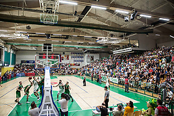 Arena during basketball match between KK Krka Novo mesto and  KK Petrol Olimpija in 4th Final game of Liga Nova KBM za prvaka 2017/18, on May 27, 2018 in Sports hall Leona Stuklja, Novo mesto, Slovenia. Photo by Vid Ponikvar / Sportida