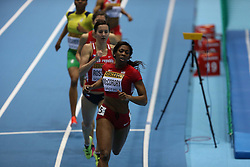 07.03.2014, Ergo Arena, Sopot, POL, IAAF, Leichtathletik Indoor WM, Sopot 2014, Tag 1, im Bild Francena McCorory (USA) competite during the 400 meters run // Francena McCorory (USA) competite during the 400 meters run during day one of IAAF World Indoor Championships Sopot 2014 at the Ergo Arena in Sopot, Poland on 2014/03/07. EXPA Pictures © 2014, PhotoCredit: EXPA/ Newspix/ Michal Fludra<br /> <br /> *****ATTENTION - for AUT, SLO, CRO, SRB, BIH, MAZ, TUR, SUI, SWE only*****