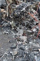 22.03.2015, Ueberlingen, GER, toedlicher Autounfall Baden Wuerttemberg, im Bild Ein toedlicher Unfall ereignete sich am Sonntagmittag in Baden-Wuerttemberg am Bodensee. Auf der B31n zwischen Stockach und Uberlingen war ein PKW in einen LKW geprallt und hatte Feuer gefangen. Der PKW war in Fahrtrichtung Stockach unterwegs gewesen und bis zum aktuellen Zeitpunkt aus ungeklaerter Ursache auf die Gegenspur geraten und dort in einen LKW geprallt. Die Notrufzentrale wurde um 13:20 alarmiert. Als die Feuerwehr Ueberlingen mit 38 Mann und 11 Fahrzeugen am Unfallort, der B31 Höhe Nesselwangen ankam stand der PKW im Vollbrand. Der Fuehrer des PKW war noch im Auto. Man geht davon aus, dass es sich um den 1994 geborenen – im Landkreis Friedrichshafen gemeldeten – Halter des Fahrzeuges handelt. Naeheres wird eine Obduktion klaeren muessen. Die zwei Personen des ebenfalls in Friedrichshafen gemeldeten LKW wurde notaerztlich betreut und in umliegende Krankenhaeuser gebracht. Die Polizei forderte zu Dokumentationszwecken den Polizeihubschrauber an. // A fatal accident occurred on Sunday afternoon in Baden-Wuerttemberg, Lake Constance. On the B31n between Stockach and Uberlingen a car had hit into a truck and caught fire. The car had been traveling in the same direction Stockach and come up to the current time from unknown reasons on the opposite lane and collided into a truck there. Ueberlingen, Germany on 2015/03/22. EXPA Pictures © 2015, PhotoCredit: EXPA/ Eibner-Pressefoto/ Eky Eibner<br /> <br /> *****ATTENTION - OUT of GER*****