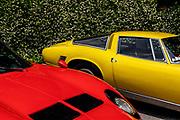 Como, Italy, Concorso d'Eleganza Villa D'Este, Lamborghini Miura P 400 SV and Iso Griflo GL 350