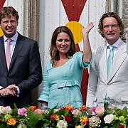 NLD/Middelburg/20100430 -  Koninginnedag 2010, Floris, Annet Sekreve en partner Bernhard Jr.