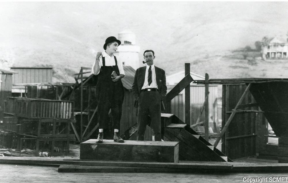 1921 Larry Semon & Robert Florey Vitagraph Studios in Hollywood