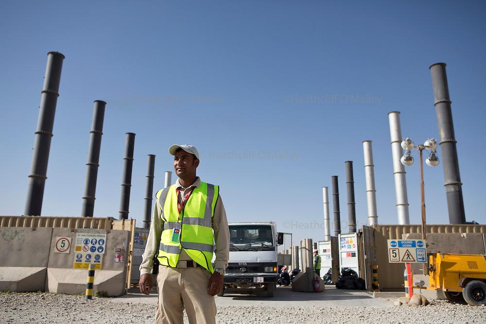 Indra Bhatt, Incinerator Supervisor<br /> <br /> Images of the KBR team working at Camp Bastion for Afghanistan Legacy Supplement .