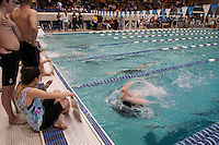 NHIAA Division II swim and diving championship meet at UNH Swasey Pool Sunday, February 10, 2013.  Karen Bobotas/for the Concord Monitor