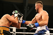 Boxen: Boxing Event by GWS Security, Cloppenburg, 19.10.2019<br /> IBF-Europameisterschaft, Halbschwergewicht: Edi Kadrija (GER) - Istvan Zoltan Zeller (HUN)<br /> © Torsten Helmke