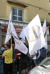 May 28, 2017 - Arzano, Campania/Napoli, Italy - Election activity and propaganda of M5S activists in the streets of Arzano in the province of Naples. (Credit Image: © Salvatore Esposito/Pacific Press via ZUMA Wire)