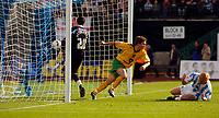 Photo: Alan Crowhurst.<br />Brighton & Hove Albion v Norwich City. Coca Cola Championship. 01/10/2005. Paul McVeigh celebrates scoring the second goal for Norwich.