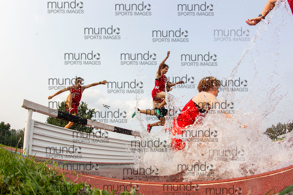 (Ottawa, Canada---04 August 2021)  competing in the 200m steeplechase at Ottawa Summer Twilight Series 2021 Meet #14, held at the Terry Fox Athletic Facility. Photograph 2021 Copyright Sean Burges / Mundo Sport Images.<br /> <br /> If you post on social media please tag @mundosportimages on Instagram or tag Mundo Sport Images on Facebook.