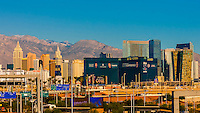 New York New York and the MGM Grand, The Strip,  Las Vegas, Nevada USA.
