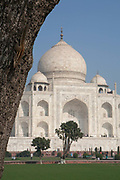 The Taj Mahal on the 24th December 2008 in Agra, Uttar Pradesh, India. The 16th Century Taj Mahal is an ivory-white marble mausoleum on the south bank of the Yamuna river in the Indian city of Agra. India.