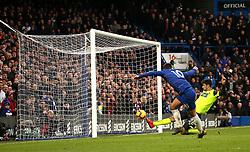 Chelsea's Eden Hazard scores his side's third goal of the game