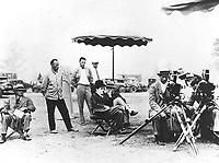 1928 Charlie Chaplin filming at his studio