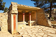 Arthur Evans reconstruction of  Knossos Minoan Palace archaeological site, Crete ..<br /> <br /> Visit our GREEK HISTORIC PLACES PHOTO COLLECTIONS for more photos to download or buy as wall art prints https://funkystock.photoshelter.com/gallery-collection/Pictures-Images-of-Greece-Photos-of-Greek-Historic-Landmark-Sites/C0000w6e8OkknEb8 <br /> .<br /> Visit our MINOAN ART PHOTO COLLECTIONS for more photos to download  as wall art prints https://funkystock.photoshelter.com/gallery-collection/Ancient-Minoans-Art-Artefacts-Antiquities-Historic-Places-Pictures-Images-of/C0000ricT2SU_M9w