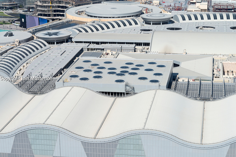View of roof of Dubai Mall in Dubai United Arab Emirates