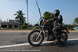 Led Sled's Pat Patterson riding a Royal Enfield Himalayan during Motorcycle Sherpa's Ride to the Heavens motorcycle adventure in the Himalayas of Nepal. Riding from Chitwan to Daman. Tuesday, November 12, 2019. Photography ©2019 Michael Lichter.