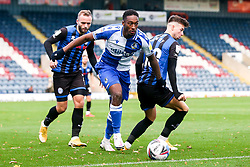 Brandon Hanlan of Bristol Rovers takes on Alex Newby of Rochdale - Mandatory by-line: Robbie Stephenson/JMP - 31/10/2020 - FOOTBALL - Crown Oil Arena - Rochdale, England - Rochdale v Bristol Rovers - Sky Bet League One
