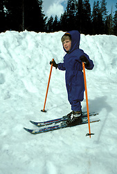 CA: Yosemite National Park, young skier, model released  .Photo Copyright: Lee Foster, lee@fostertravel.com, www.fostertravel.com, (510) 549-2202.cayose201.