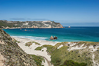 View of beach and Cuyler Harbor, San Miguel Island, Channel Islands National Park, California