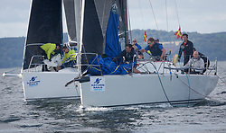 Largs Regatta Festival 2018<br /> <br /> Day 1 - GBR8543R, Jings, Robin Young, CCC, J109, IRL3307, Jacob VII, John Stamp, Port Edgar, Corby 33<br /> <br /> Images: Marc Turner